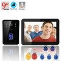 9 Inche RFID Video Door Phone Doorbell Intercom Door chime Rainproof with Video Recording and PhotoTaking Function