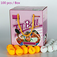 Celluloid  table tennis  ball  game training and entertainment  100/box High hardness good elasticity ping-pong ball
