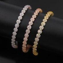 Великолепная шесть CZ алмазов маленький цветок браслет, качество бренда, золото/серебро/розовое золото Цвет, Регулируемый Размеры, лучший подарок для женщин