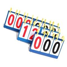 Portable 3/4 Digit Scoreboard Sports Flip Score Board Tennis Basketball  Game Number Display Board Score Marking Kits black score футболка