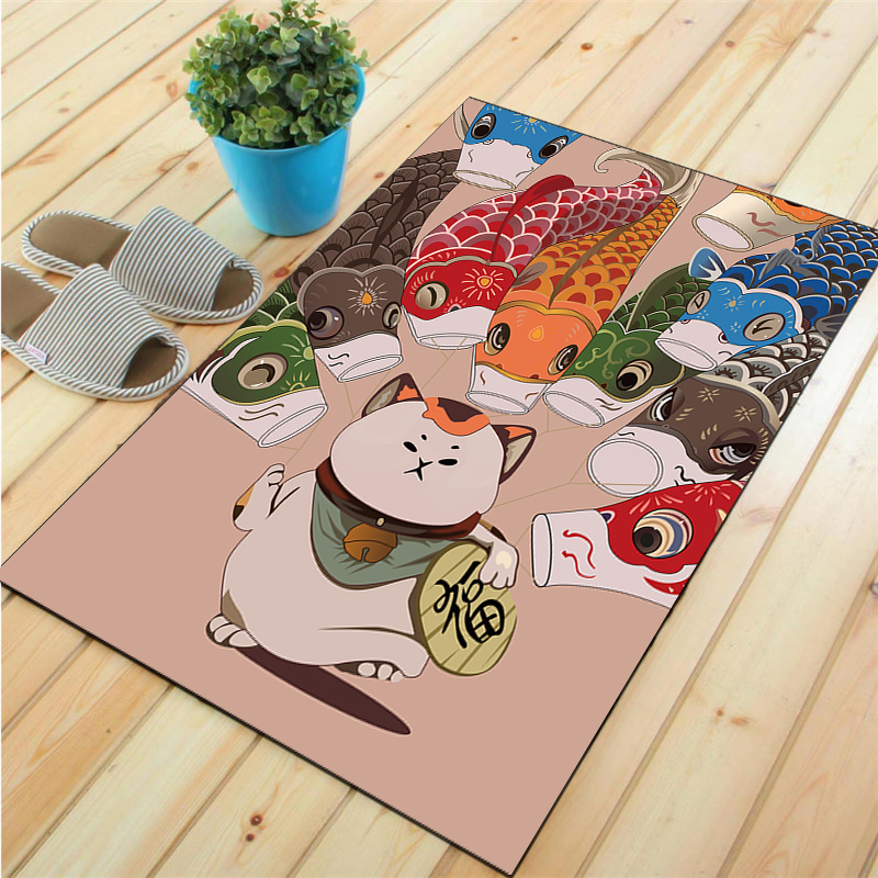 Image 2 - Honlaker Fortune Cat Living Room Rugs and Carpets Chinese Style Entrance Mats Bedroom Large Floor Matmat matrugged ruggedmats and rugs -