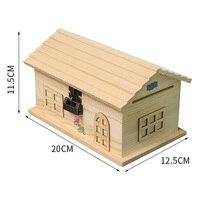 Wooden Piggy Bank Money Box Cash Coins Saving Box House Deposit Digital Coin Counting Money Jar Kumbara Kids Home Decor LZL084