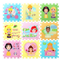DISNEY 31 5cm Winnie Princess Toys EVA Floor Puzzles Baby Play Mats For Children Toddler Crawling