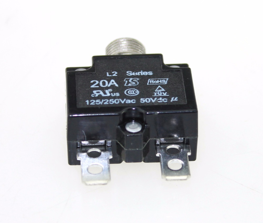Push Button Reset 20A Circuit Breakers with Quick Connect Terminals in Fuses from Automobiles Motorcycles