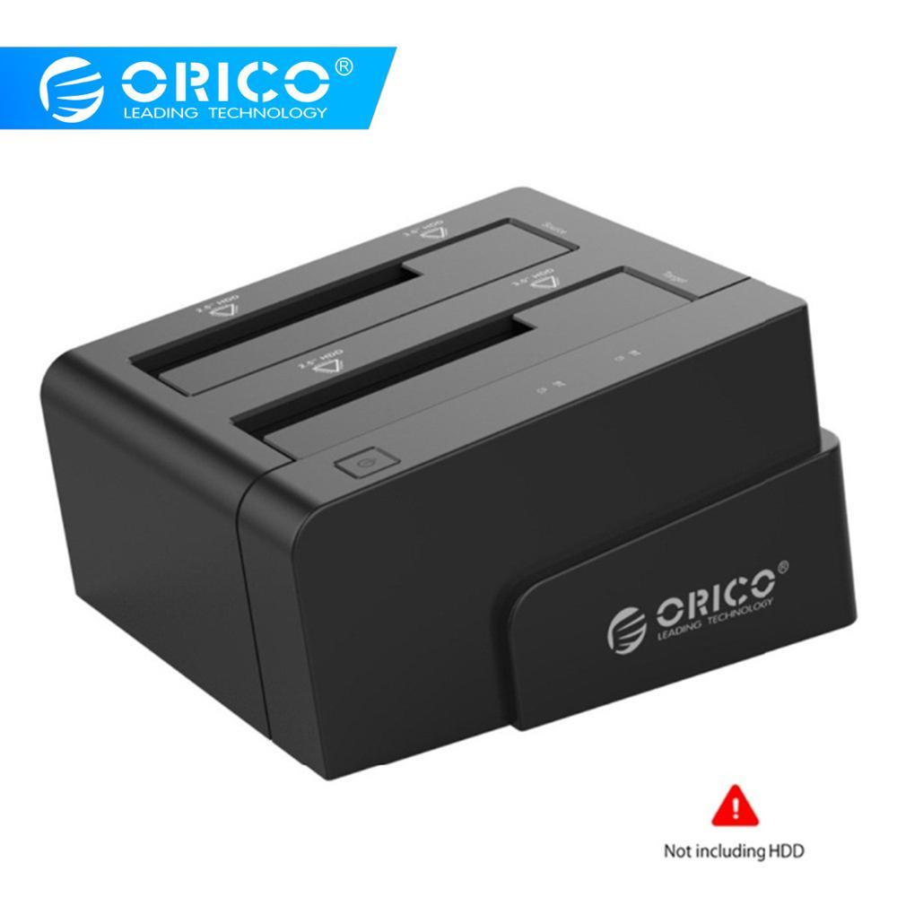 ORICO Hard Drive Docking Station USB 3.0 To Sata 2.5 3.5 Dual Bay Hdd Case Box Tool Free Duplicator 16TB For Windows Mac OSX9.1