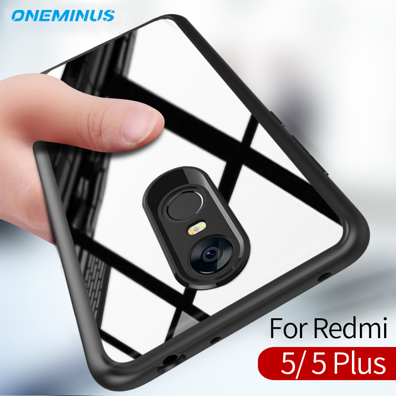 for xiaomi redmi 5 Plus Case, Full Protective Slim TPU & Acrylic Transparent Back Cover redmi 5 Case cover Shockproof Clear Case