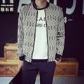 Hot sale korean fashion baseball slim jacket men's mandarin collar casual coat veste homme