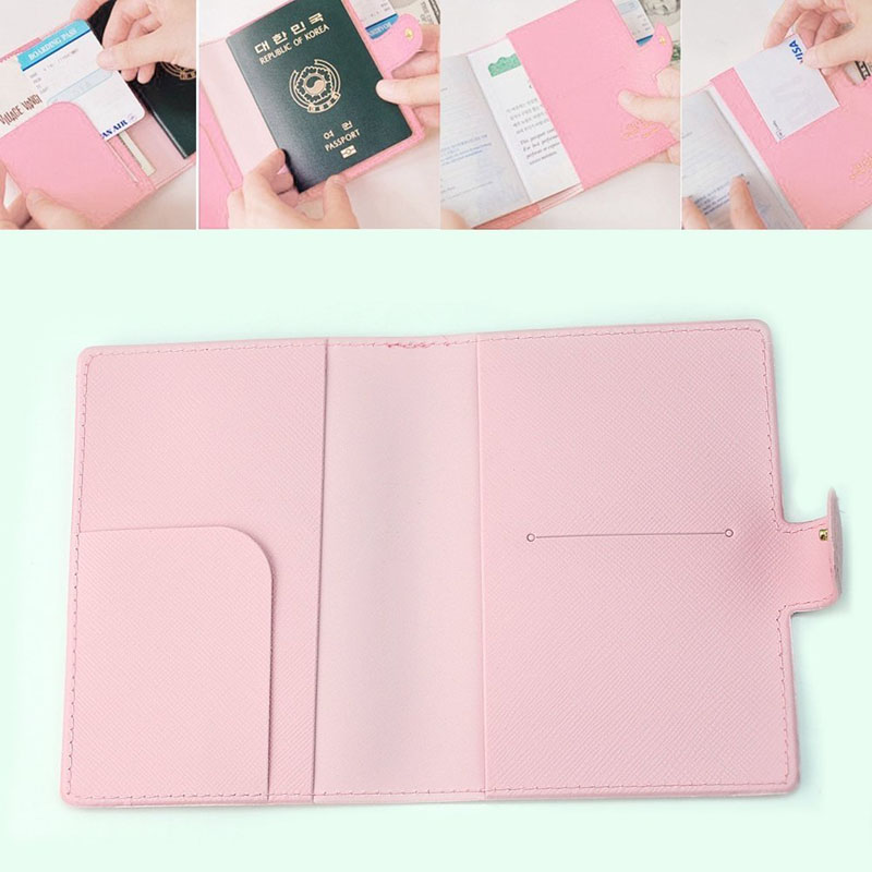 Girly Passport Cover Tea And Sweets In Doodle Style Stylish Pu Leather Travel Accessories Womens Passport Case For Women Men