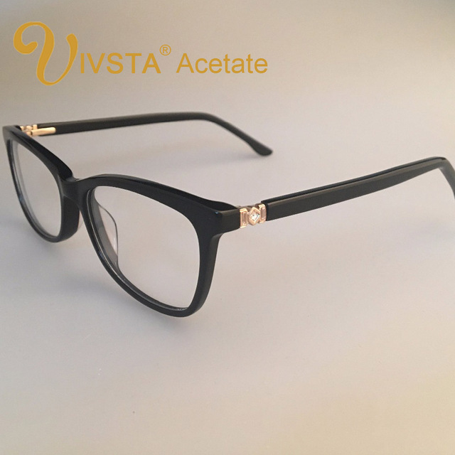 42c3a9bd3b3 IVSTA Real Handmade Acetate Glasses Women Optical Frame Butterfly Really  Acetate Frames Prescription Eyewear Myopia diamond 8813