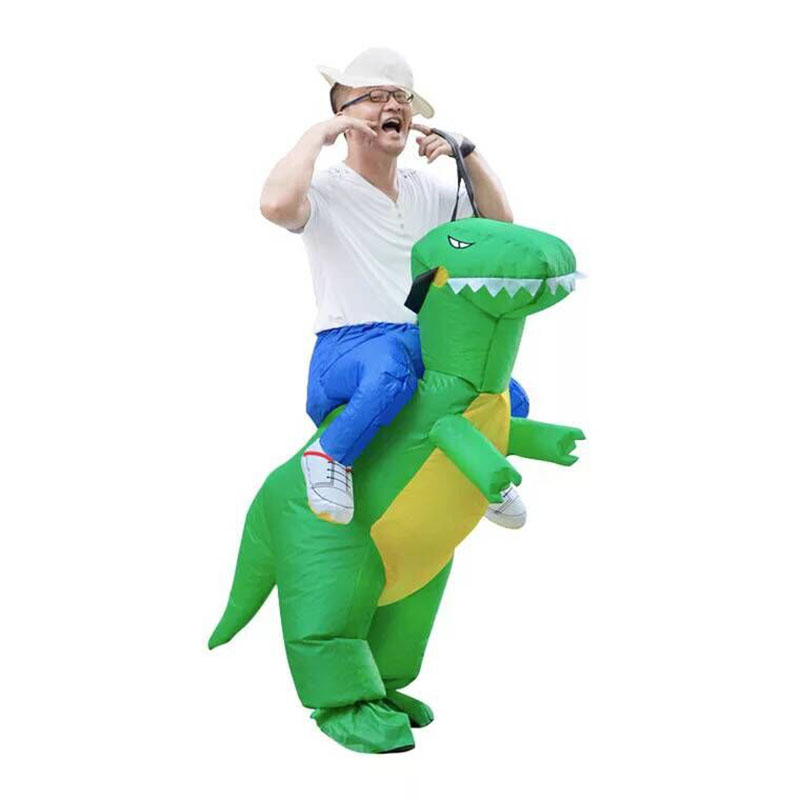 Adult Ride on Inflatable Dinosaur Costume Fancy Dress Unisex Halloween Christmas Carnival Party Event Cosplay Suit Toys
