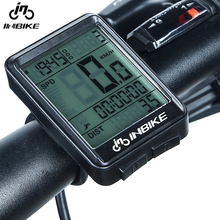 INBIKE Rainproof Bicycle Computer Wireless MTB Bike Cycling Waterproof Odometer Stopwatch Speedometer Watch LED Digital Rate