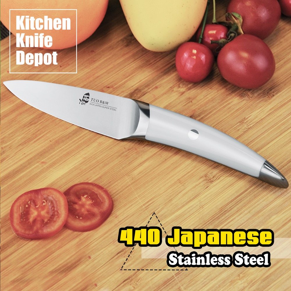 TUO Cutlery B W Series 3 5 Paring font b Knife b font 440 Japanese Steel
