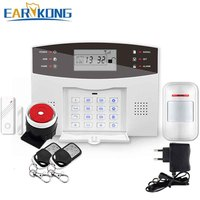 New Earykong Wireless GSM Alarm System LCD Keyboard Door Winodw PIR Motion Detector Intercom Home Security
