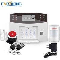 New Earykong Wireless GSM Alarm System LCD Keyboard Door Winodw PIR Motion Detector Intercom Home Security