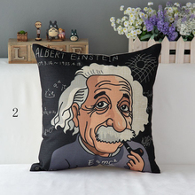 Cushion Cover Case World Famous People Einstein Van Gogh Andersen Bach Creative Art Decorative Home Throw