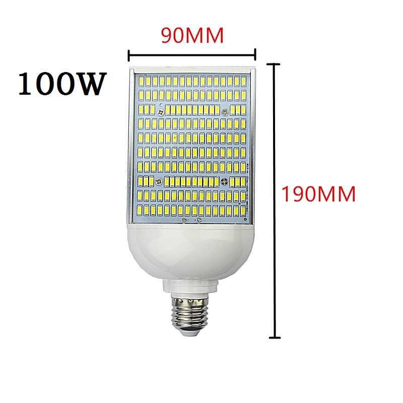 E40 E39 уличный фонарь e27 E26 светодиодный кукурузы лампочки 70 Вт 100 Вт 150 Вт высокого залива Освещение снаружи парковка столбы света лампада холодной теплый белый