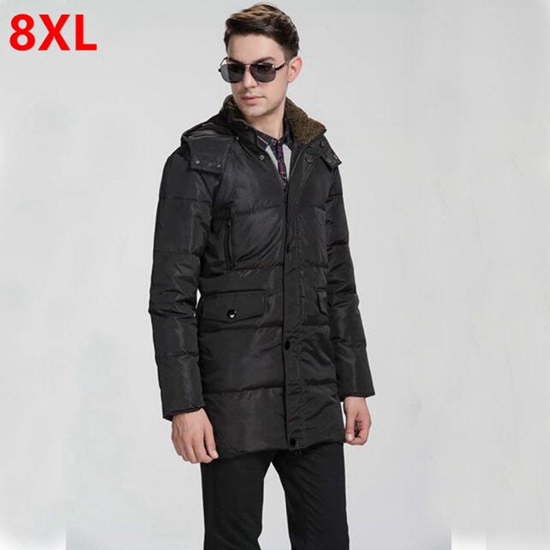 winter men add fertilizer plus size long Down Jacket Mens fat 6XL fat winter coat Big yards Man long down jacket