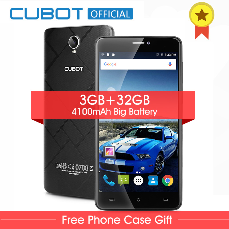 Оригинал Cubot Макс Android 6.0 MTK6753A Octa Ядро Смартфон 6.0 Дюймов 3 ГБ RAM 32 ГБ ROM Сотовый Телефон 4100 мАч 4 Г LTE Мобильный Телефон