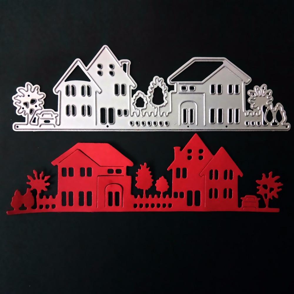 House Villa Courtyard Metal Cutting Dies Stencils for DIY Scrapbooking/photo album Decorative Embossing DIY Paper Card Craft