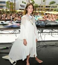 100% natural silk dress brand high quality sexy v-neck runway dress oversized large size summer 2017 fashion beach dresses