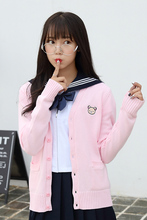 Sailor Moon series cartoon embroidery 9 color Multiple styles Knitted cotton sweater cardigan uniform cos JK