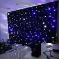 4 metro x 4 metro llevó la luz de las estrellas cortina telón de fondo de eventos del banquete de boda azul y blanco led cortinas para telones de fondo