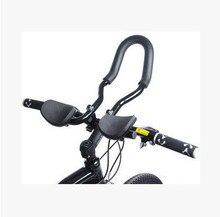 Check Price Russia Bicycle Aerobar Road Arm Rest Handlebars Bike Racing Aero Bar mountain bike aluminum alloy riding equipment accessories