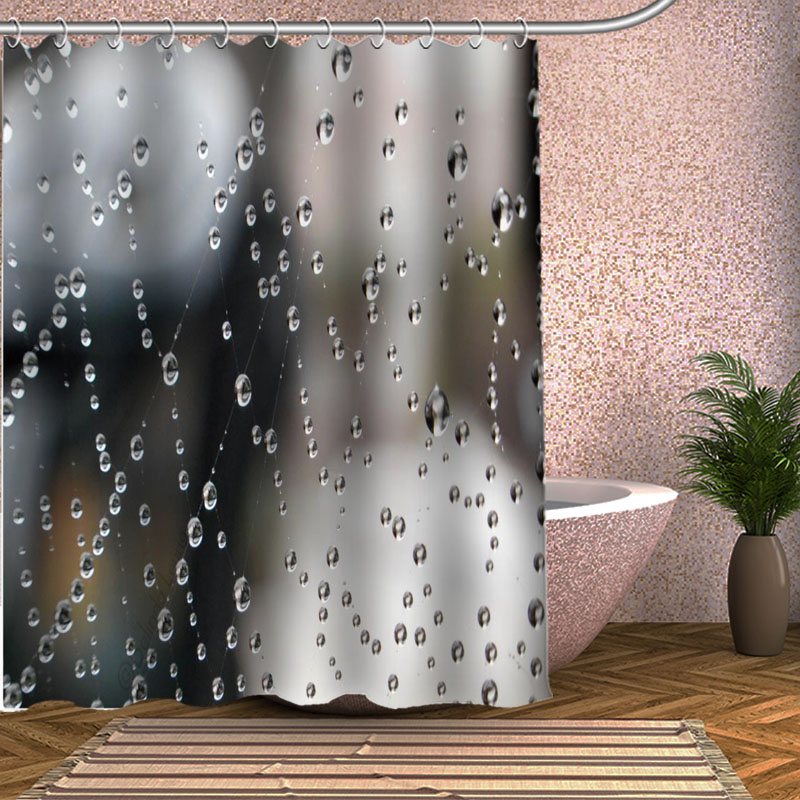 Raindrop Shower Curtain Eco Friendly Modern Fabric Polyester Custom Bath Curtains In From Home Garden On Aliexpress