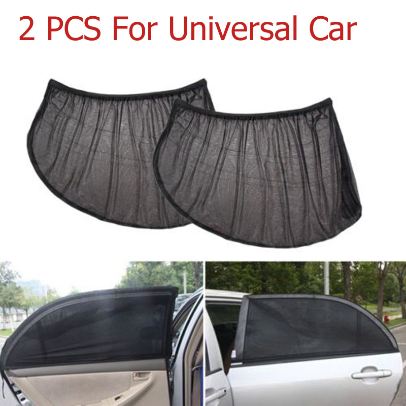 Car Window Cover Sunshade Car Curtain Car Windshield Sun Shade Visor Mesh Anti UV Solar Protection Car-covers 2Pcs