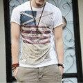 Impresión de La Bandera de Verano para hombre de Moda Casual de Manga Corta Camisetas T shirt Hombres Tops Camisas de Gran Tamaño M-XXXL Envío Gratis