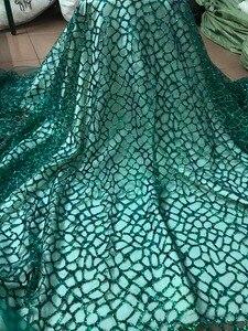 Image 2 - 패션 쇼 JIANXI.C 51532 무대 쇼/이브닝 드레스/파티를위한 반짝이 장식 조각 자수 얇은 명주 그물 레이스를 붙였다