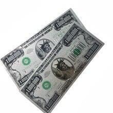 1 шт. 24 к Золотая банкнота 1 миллион долларов США Бумажная банкнота сувенир валюта Серебряная коллекция банкнот украшение для дома