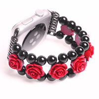 3D Rose Bracelet For Apple Watch Band 38mm Wrist Strap For IWatch Jewelry Flower Replacement Wristband