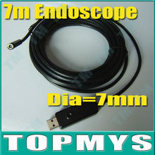 Free shipping 7mm Inspection Camera Medical Industrial USB Endoscope Tube Snake Waterproof MINI Camera with 6LED TE-E7A