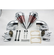 Motorcycle Spike Air Cleaner Intake Filter Kit For Suzuki Boulevard M109 Chrome цены