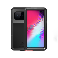 Metal Armor Full Body Case For Samsung Galaxy S10 5G Case 360 Shockproof With Tempered Glass Cover For Samsung S10 5G Case S 10