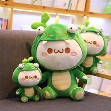 4907e72bd77 1pc Kawaii Creative dinosaur Plush cosplay dinosaur Soft Pillow Cute Stuffed  Animal Toys Doll Valentines Birthday