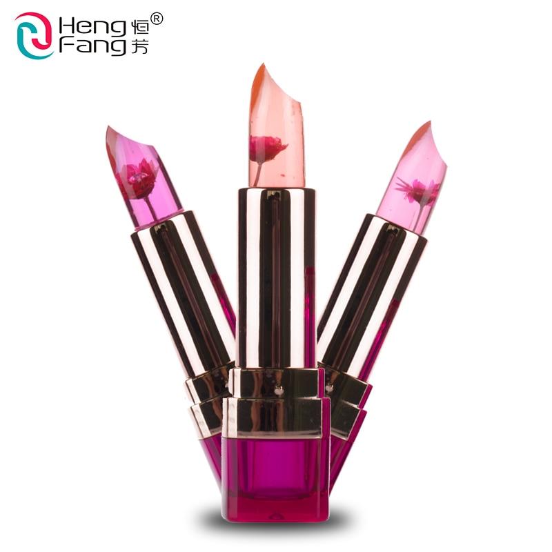 Black Chrysanthemum Lipstick 3 Fruit Flavors Temperature changed Lip Balm Moisturizer Lips 3.5g Makeup Brand HengFang #H9266 1