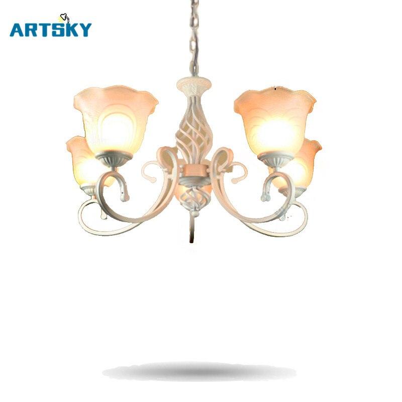 Europe White/ Black Chandeliers Lights for Restaurant Livingroom Bedroom Indoor Lamp Ceiling Chandelier Lace Shade europe