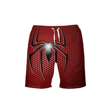 VEEVAN Men's Board Shorts Marvel Hero Spiderman 3D Printing Beach Shorts Quick-dry