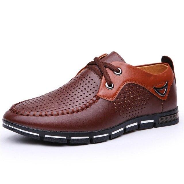 Waikol 2017 Designer Classic Men Dress Shoes PU Black Brown  Wingtip Italian Formal Oxfords Shoes Size 38-46