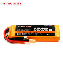 TCBWORTH RC LiPo battery Power 3S 11.1V 4500mAh 35C RC Quadrotor For RC Airplane Helicopter AKKU Drone Car Truck Li-ion battery