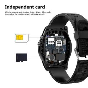 Image 4 - Montre intelligente Slimy téléphone SW18 horloge SIM Push Message réponse cadran appel Bluetooth calcul pour téléphone Android PK Q18 montre intelligente