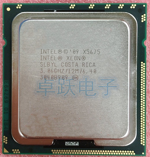 Intel xeon X5679 Six cores 12 threads 3.2 Ghz 12 MB LGA1366  CPU Processors
