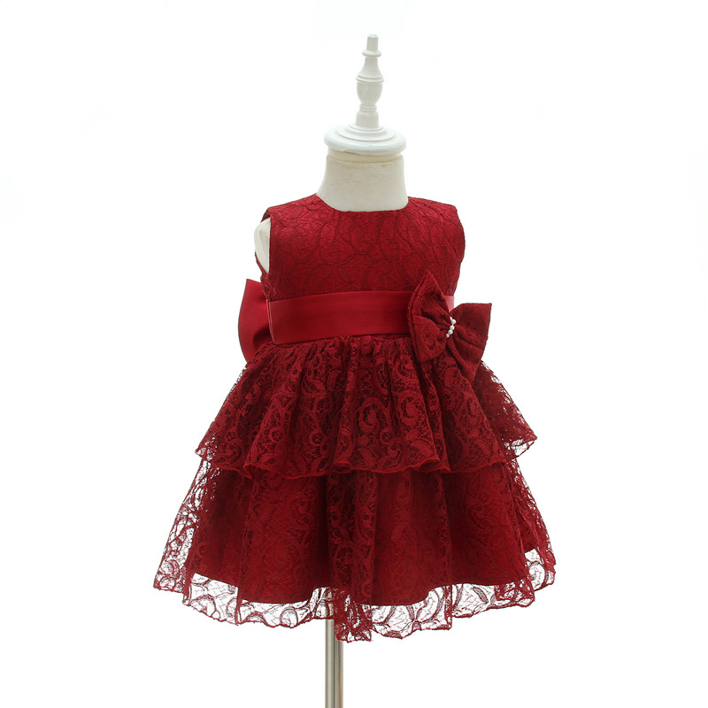Baby Girl Dress Red 1 Year Old Girl Birthday Dress with Bows Embroidered Frocks Special Occasion Dresses A015 Festive Clothes накладной светильник eglo alfena s 95085