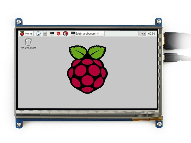Tela Touch screen Capacitiva de 7 polegadas LCD HDMI Painel Escudo para Banana pi Raspberry Pi Beaglebone Preto Suporta Vários Sistemas