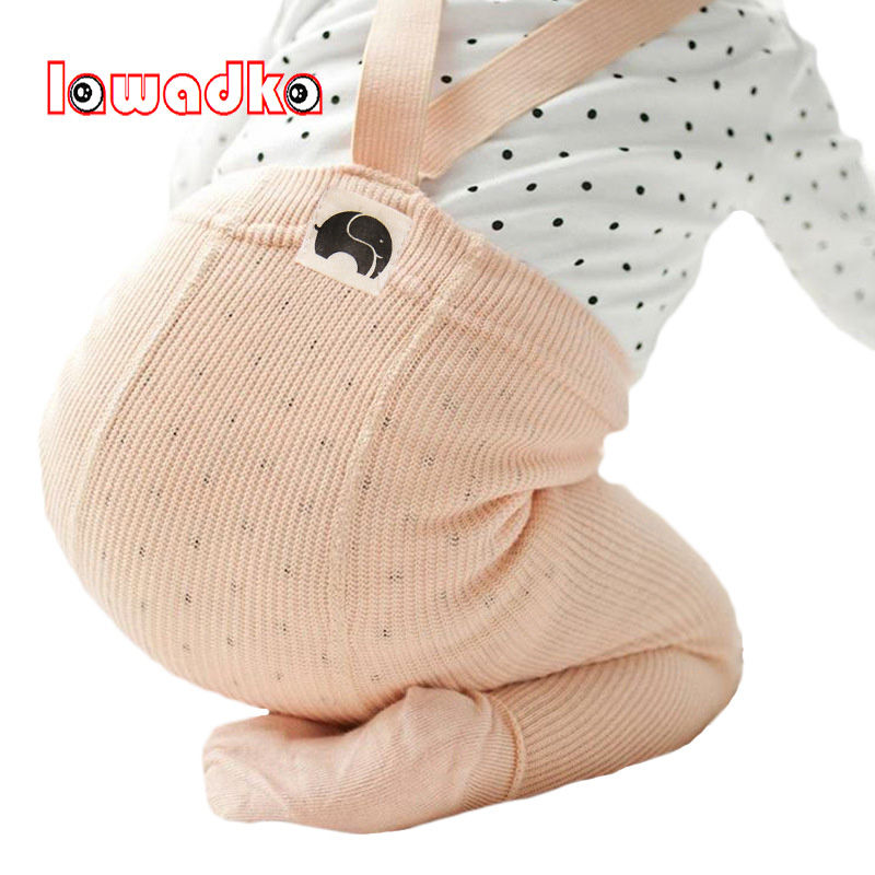 Lawadka Infant Soft Cotton Baby Girl Tights High Waist Newborn Casual Solid Warm Tights Kid Stockings lawadka 100 page 2
