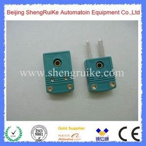 Image 2 - Mini Thermocouple Connector K  OMEGA type Green Color Flat pin Male and Female