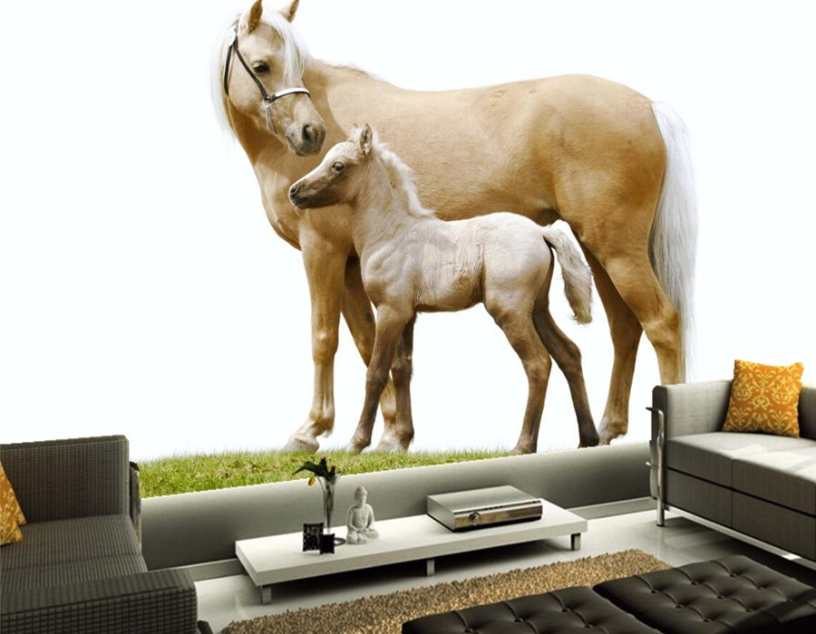 Custom photo 3d murals,Horses Two Animals hd wallpaper,dining room living room sofa TV wall children bedroom wallpaper 3d mural костюм горничной soft line fifi черный s m