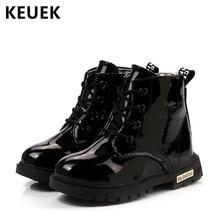 цены на Autumn Winter Fashion Children Boots Kids shoes Boys Girls Plush Ankle Snow boots PU Leather Baby Motorcycle boots 050  в интернет-магазинах